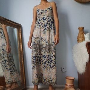 H&M Floral Maxi Minimal Strap Dress Size 4